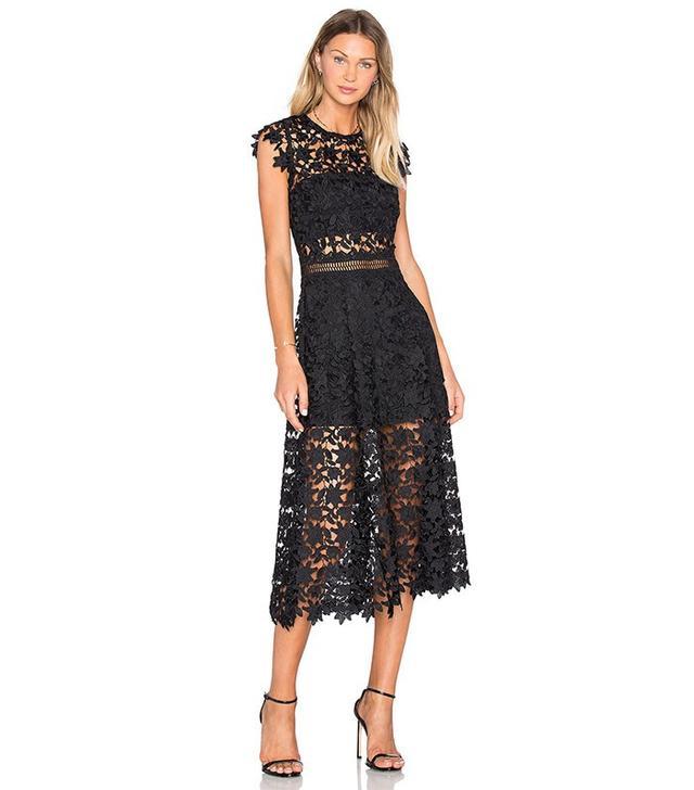 Karina Grimaldi Dorianne Crochet Dress