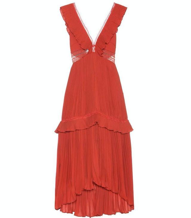 Self-Portrait Calla Pleated Dress