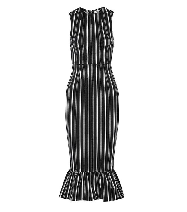 Opening Ceremony Lotus Striped Textured-Jersey Dress