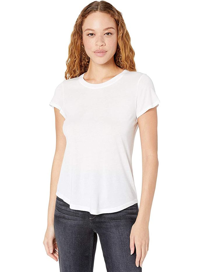 T-Shirt Blend Solid T Shirts Girls Tops Caseal Assorted