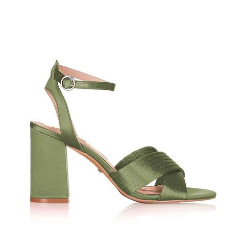 Rich Satin Cross Strap Sandals