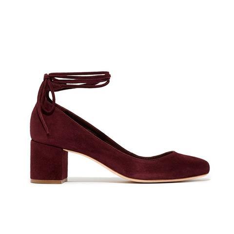 Clara Ankle-Tie Pump