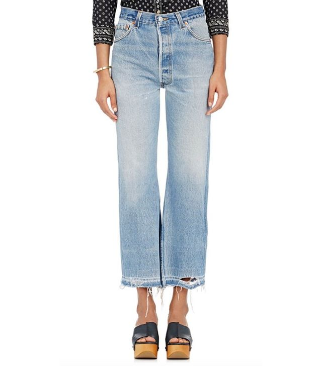 Re/Done The Leandra Crop Flared Jeans