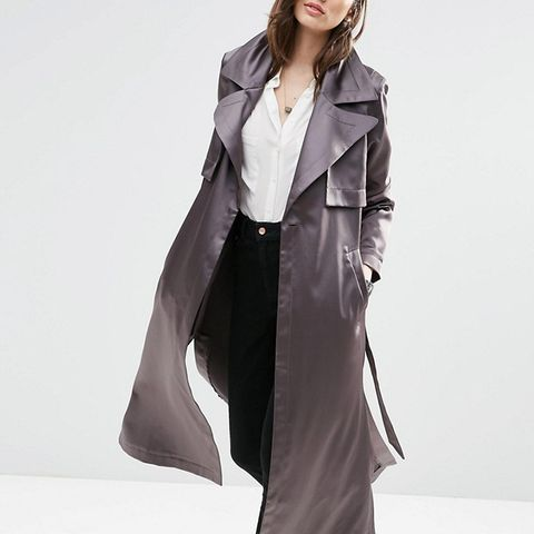 Trench in Luxe Satin Fabric