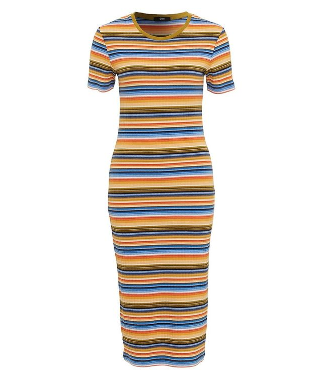 Sportsgirl Glamping Stripe Midi Dress