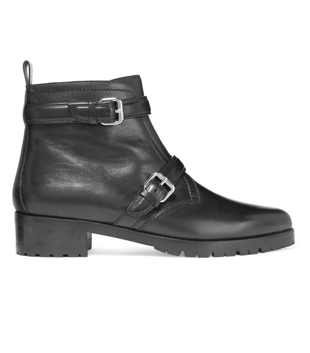 Tabitha Simmons Aggy Buckled Leather Biker Boots