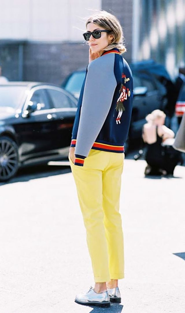 Bomber Jacket + Bright Trousers