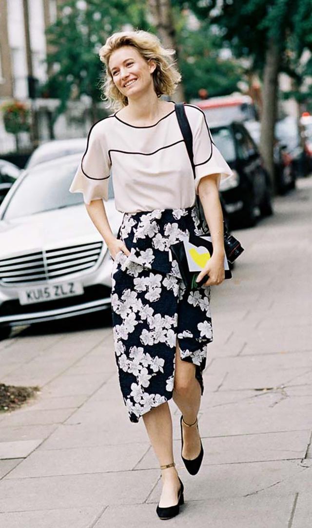 Fancy Tee + Printed Skirt