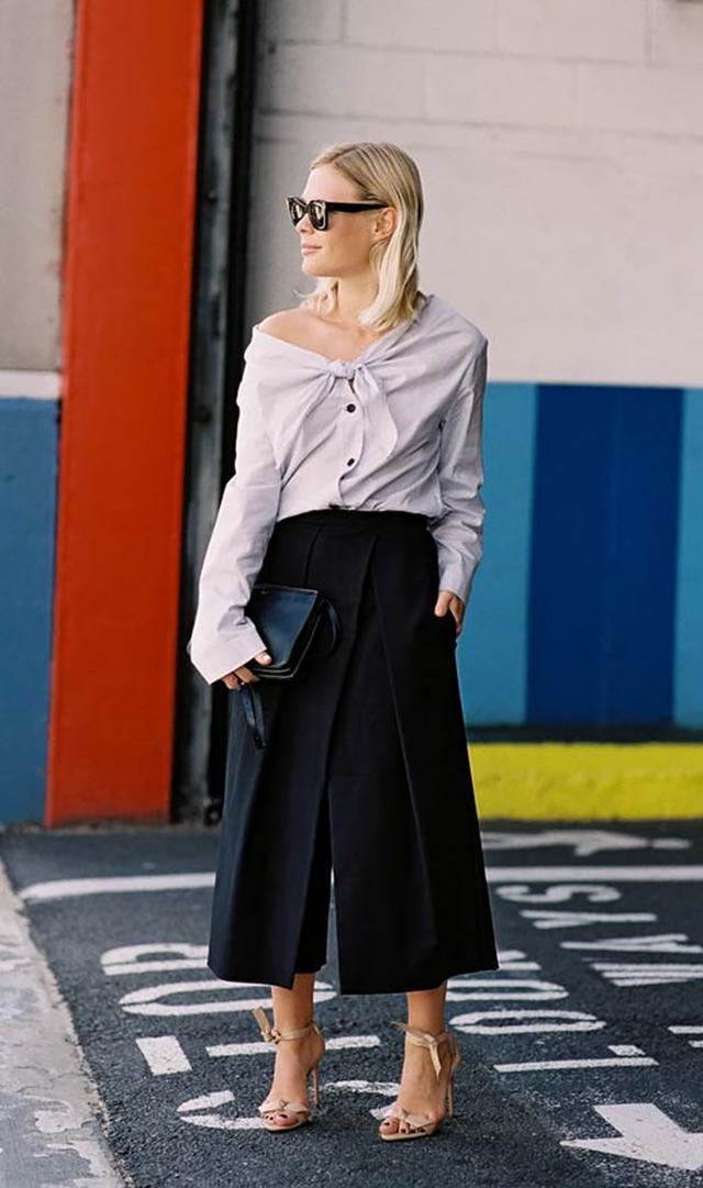 Button-Down + Culottes