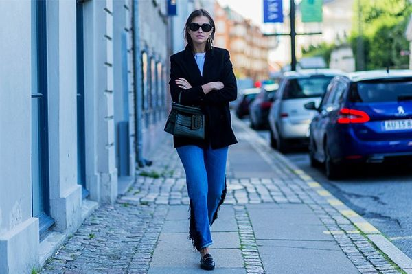 Style Notes: Darja has been shopping wisely, locating all of your wardrobe staples, only they each have a twist.