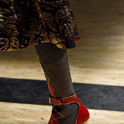 Autumn winter 2016 high heel shoe trend on Prada runway