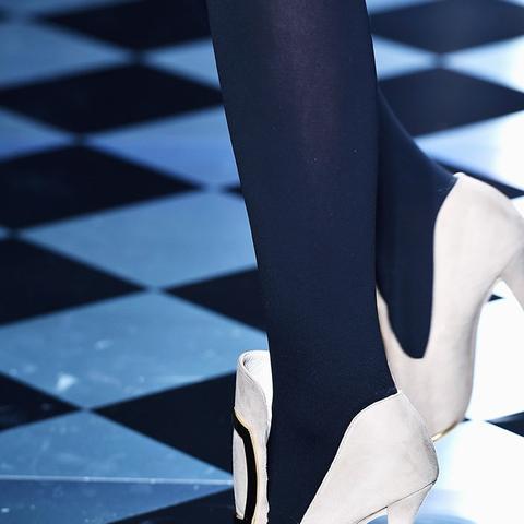 Autumn winter 2016 high heel shoe trend at Versace