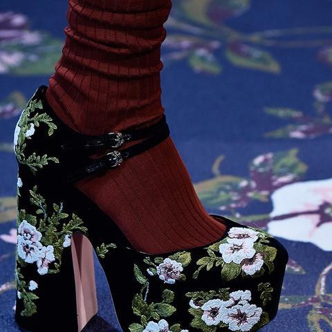 Autumn winter 2016 high heel shoe trend at Rochas
