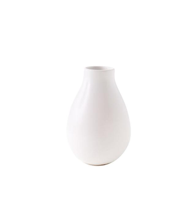 West Elm Pure White Ceramic Vase