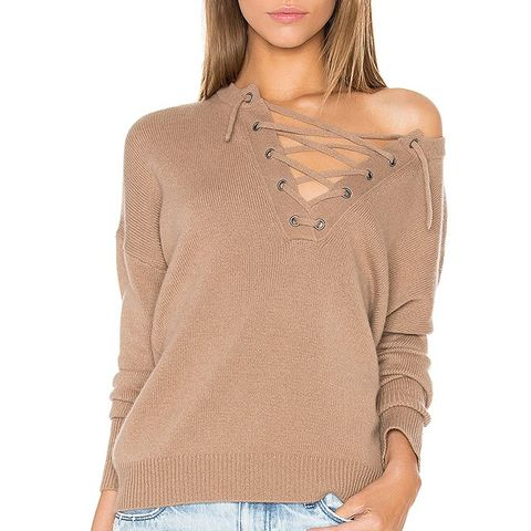 X Rocky Barnes Dylan Lace Up Sweater