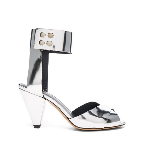 Leather Megan Metallic Heels