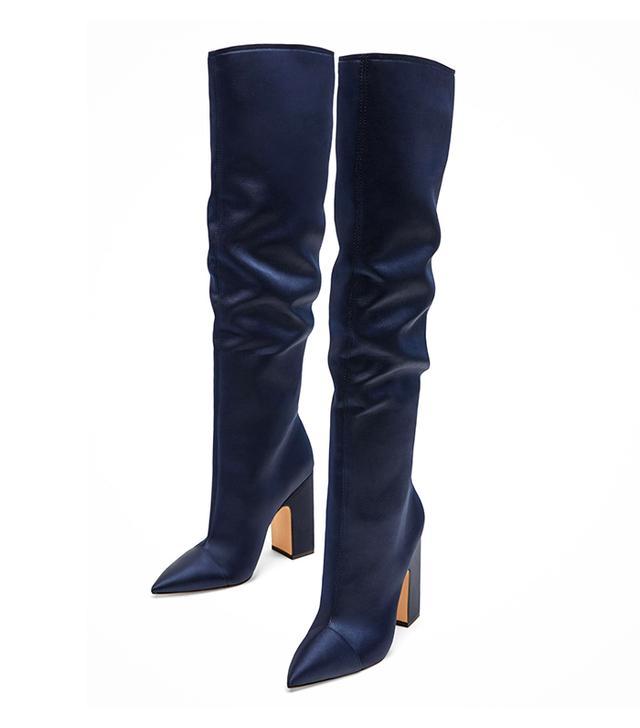 Zara Sateen High-Heel Boots