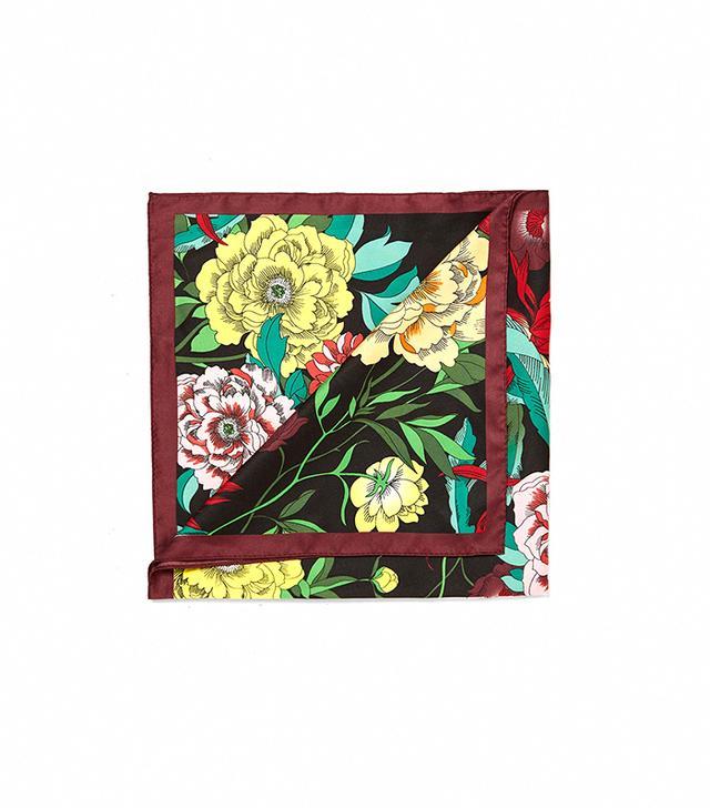 Zara Botanical Print Bandanna-Style Scarf
