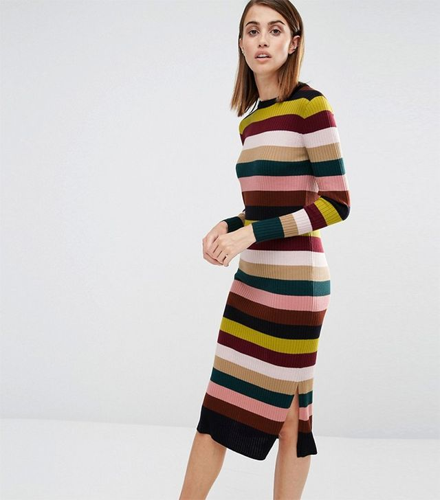 Whistles Rib Knit Dress