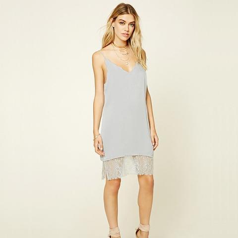 Scalloped Slip Dress