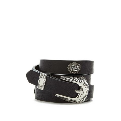 Ornate Studded Skinny Belt