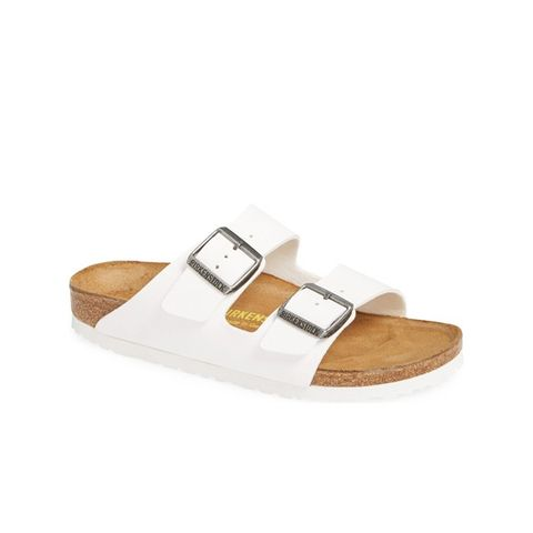 Arizona White Birko-Flor Sandal