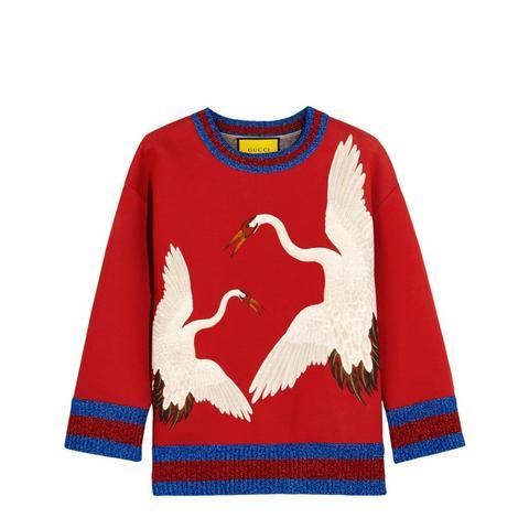 Printed Bonded Cotton-jersey Sweatshirt