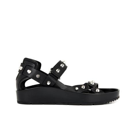 Arena Stud Leather Platform Sandals