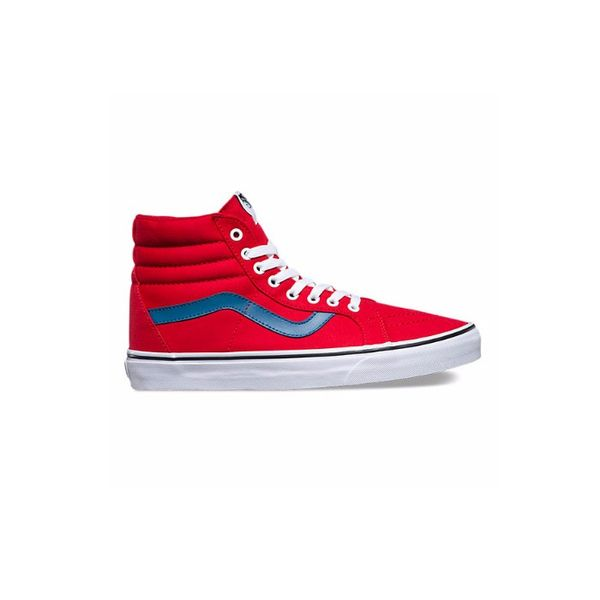 Vans Canvas Sk8-Hi Reissue in Red/Blue