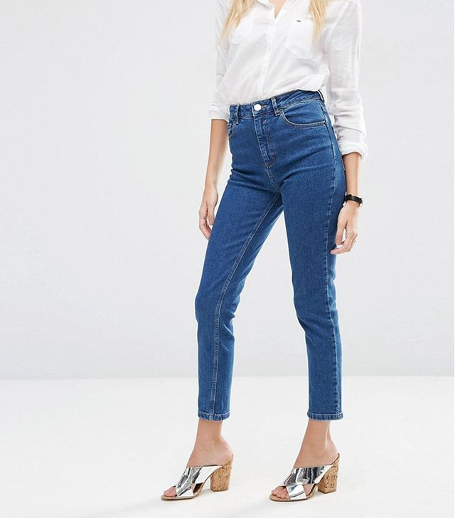 ASOS Farleigh Slim High Waist Mom Jeans