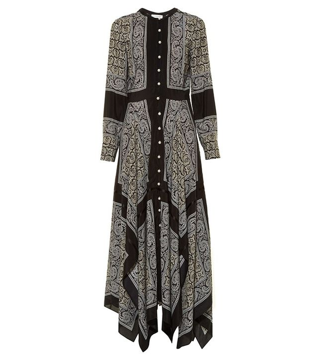Altuzarra Winnie Long-Sleeved Paisley-Print Dress