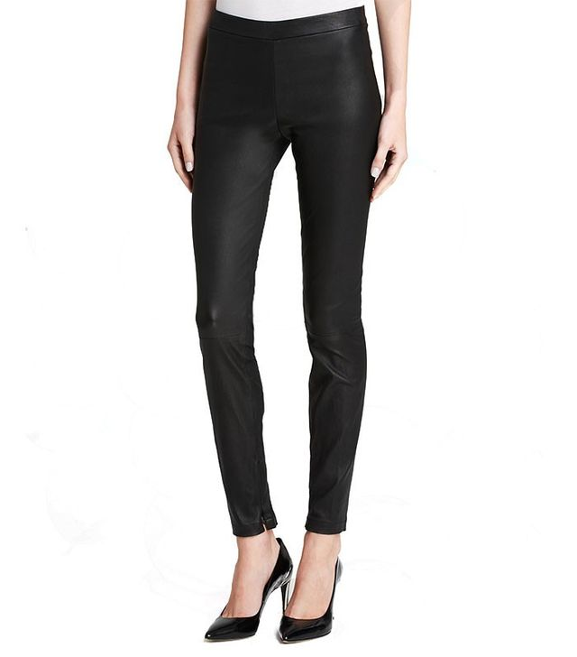 Vince Leather Ankle Zip Leggings