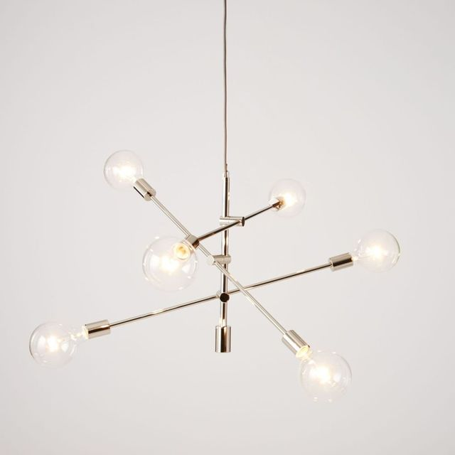 West Elm Mobile Pendant - Polished Nickel