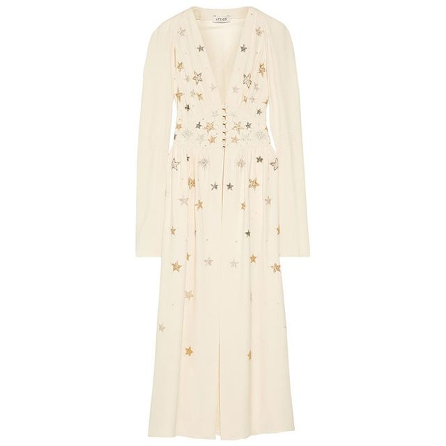 Attico Cher Embellished Crepe Jacket