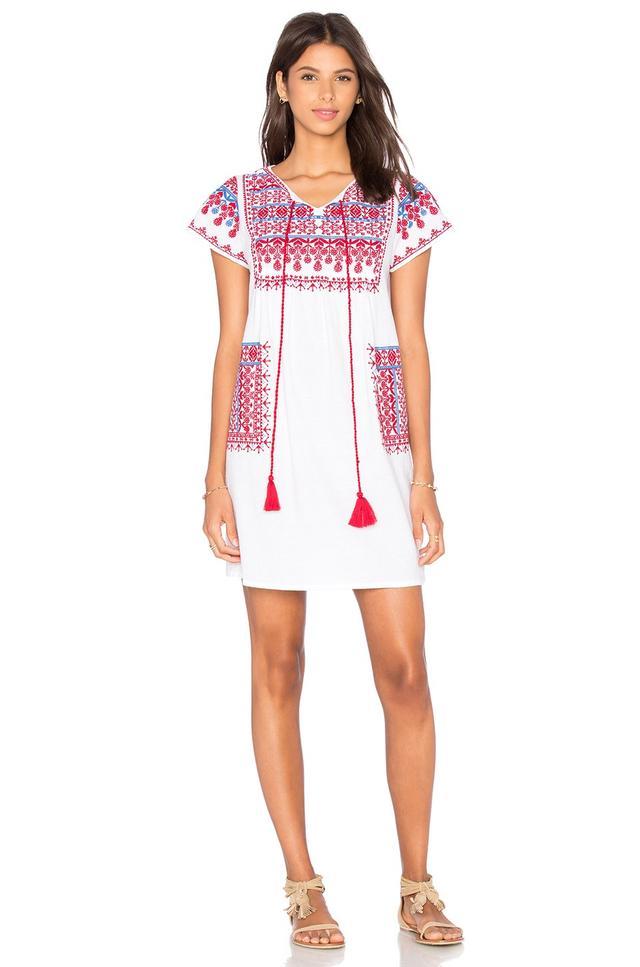 Star Mela Lina Embroidered Dress