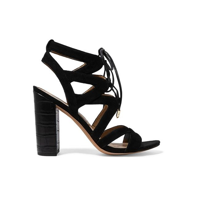 Sam Edelman Yardley Lace-Up Suede Sandals