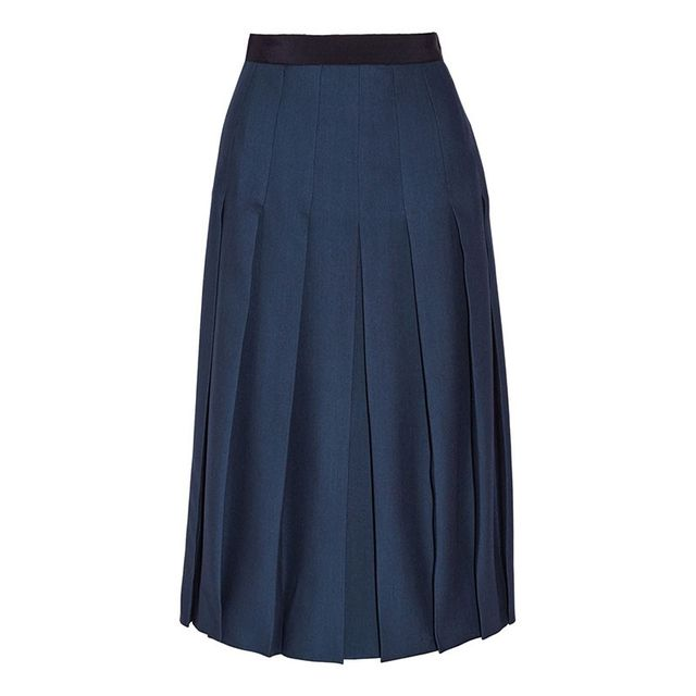 Gucci Pleated Silk Midi Skirt
