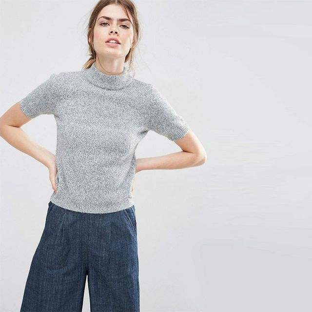ASOS High Neck Knitted Tee