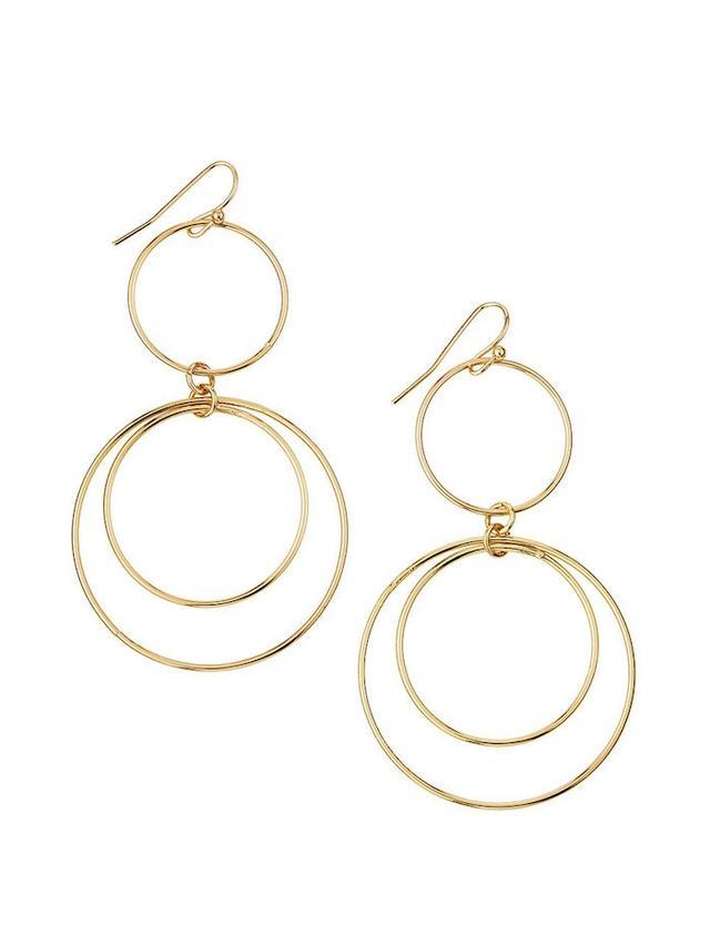 Panacea Golden Orbital Hoop-Drop Earrings