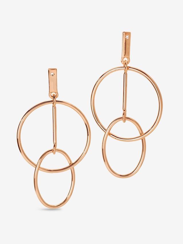 White House Black Market Double Hoop Drop Linear Earrings