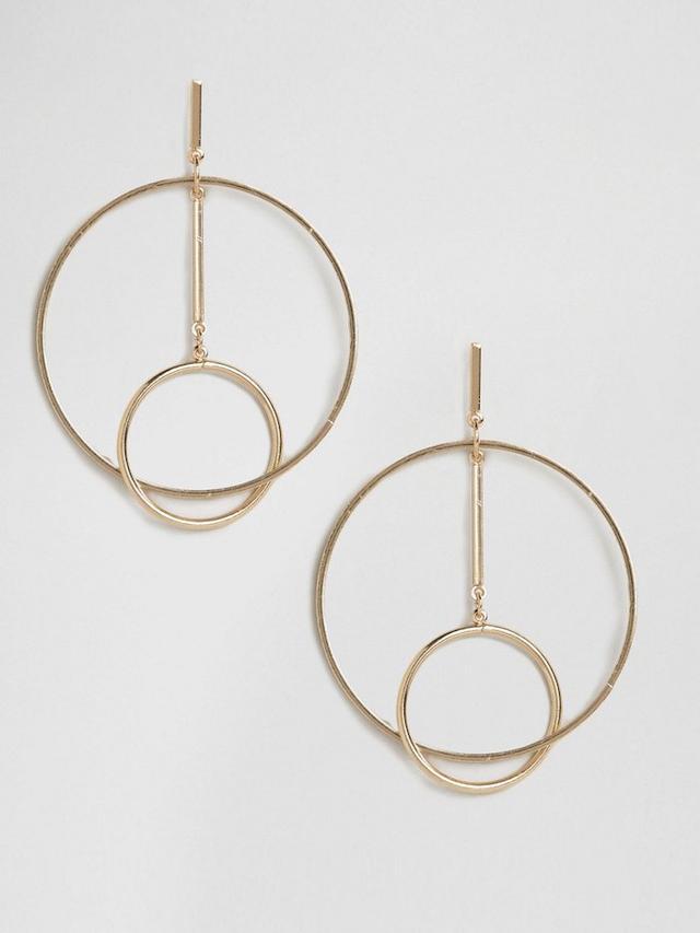 New Look Double Hoop Earrings