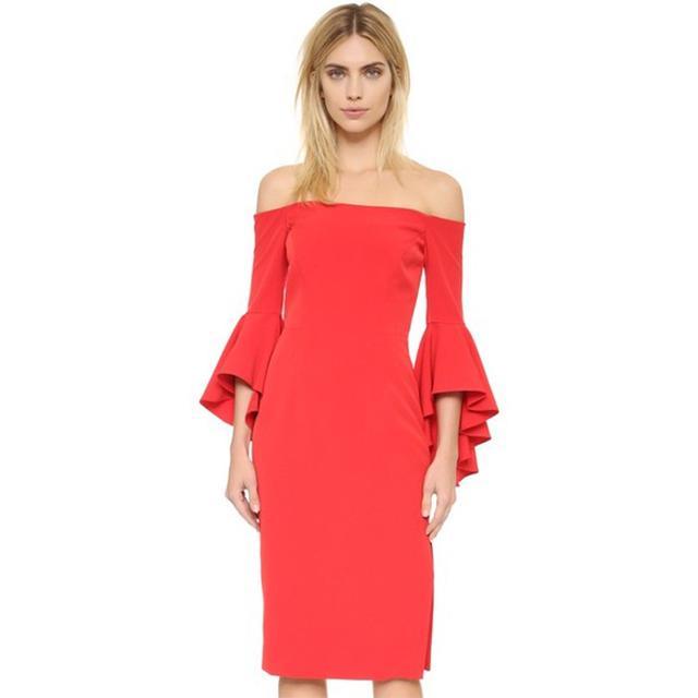 Milly Cady Selena Slit Dress in Tomato