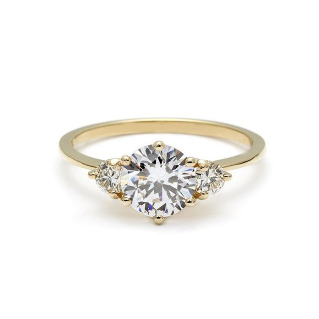 Anna Sheffield Hazeline Three-Stone Diamond Ring