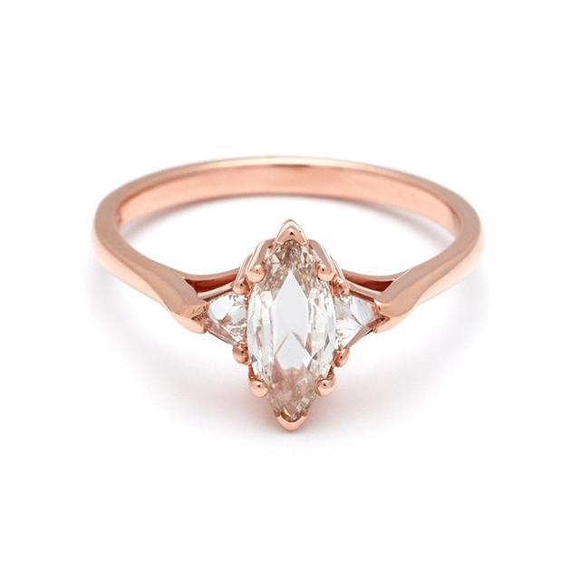 Anna Sheffield Bea Champagne Diamond Ring