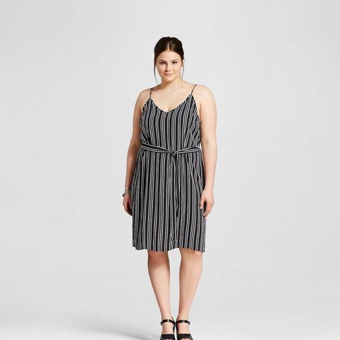 Plus Size Belted Slip Dress