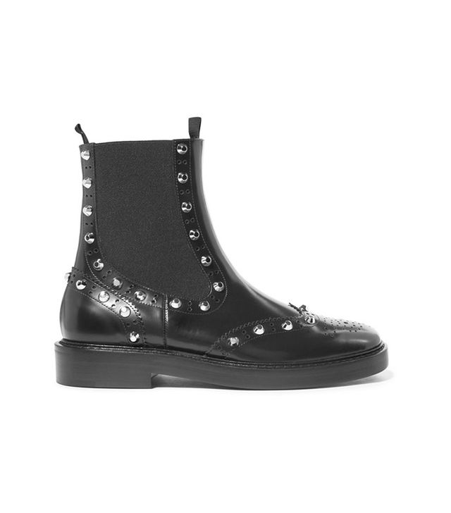 Balenciaga Studded Leather Chelsea Boots