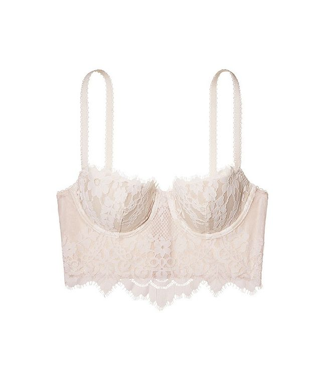 Victoria's Secret Floral Lace Long Line Demi Bra