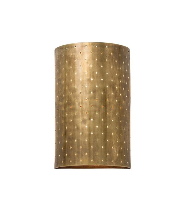 Consort Brass Perforated Sconce