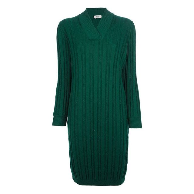 Céline Vintage Ribbed Dress