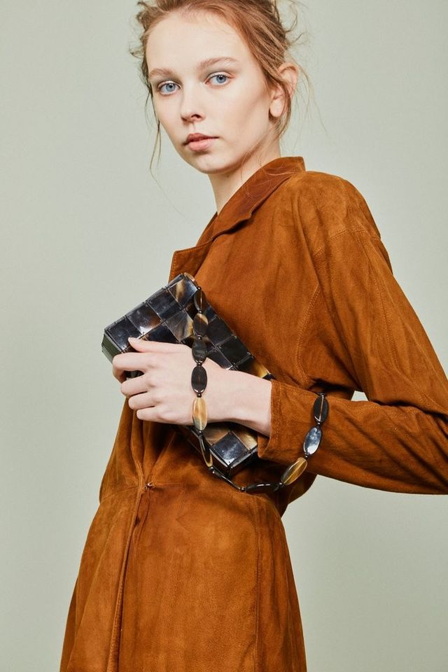 The Mercantile Vintage Tortoise Clutch